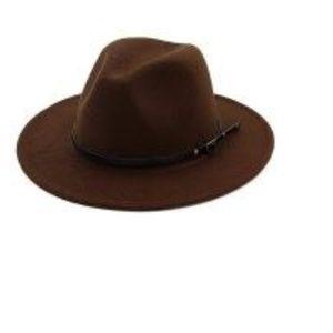 Women Belt Buckle Fedora Hat